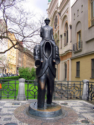 "Old Town statue called ""Kafka"""
