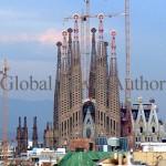 Sagrada Familia Church designed by Gaudi