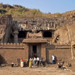 India, travel, Asia, international, Cave Temple in Ellora, near Aurangabad, India