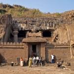 India, travel, Asia, international, Cave Temple in Ellora, near Aurangabad, India