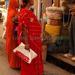 India, travel, Asia, international, Market shoppers, Udaipur, India