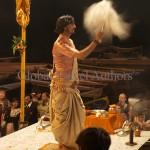 India, travel, Asia, international, Hindu Priest at the Ganges Fire Arti, Varanasi, India