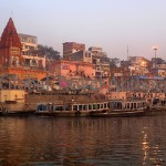 India, travel, Asia, international, Ganges River at sunrise, Varanasi, India