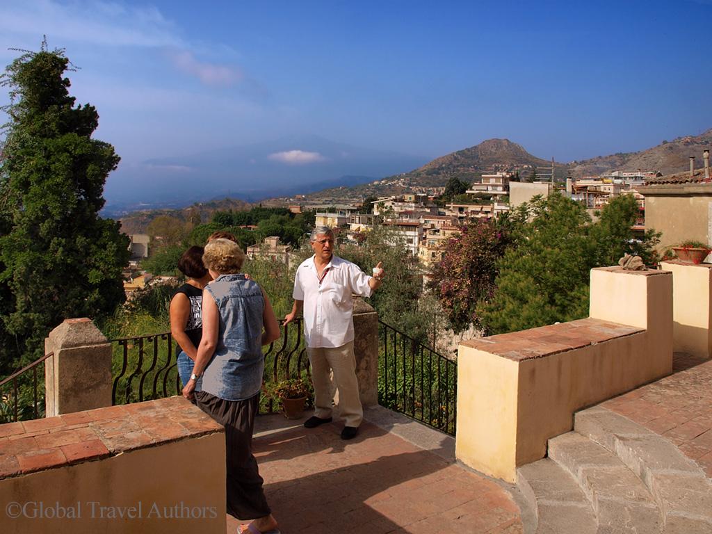 Terrace of Casa Cuseni, Taormina, Sicily