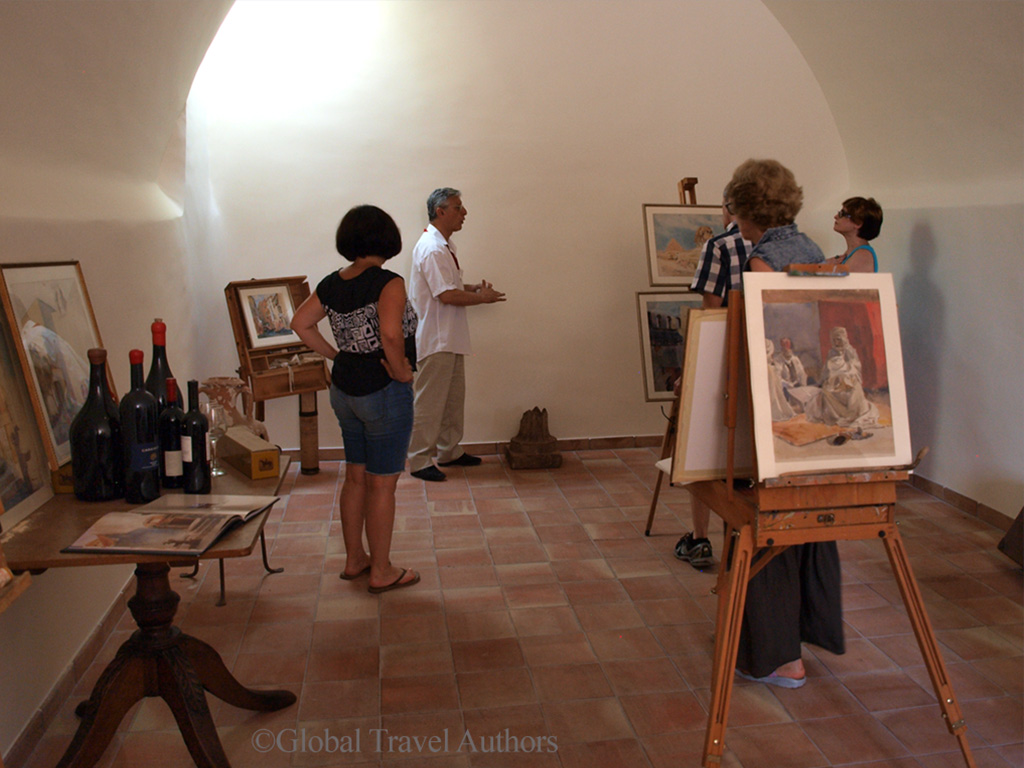 Studio of Robert Kinston, Casa Cuseni, Taormina, Sicily
