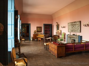 Sitting room in Casa Cuseni