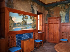 Dining room paintings in Casa Cuseni