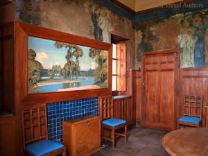 Dining room paintings in Casa Cuseni