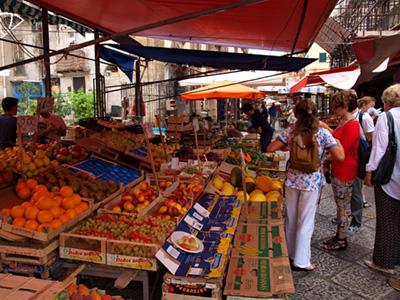 Picturesque Palermo market