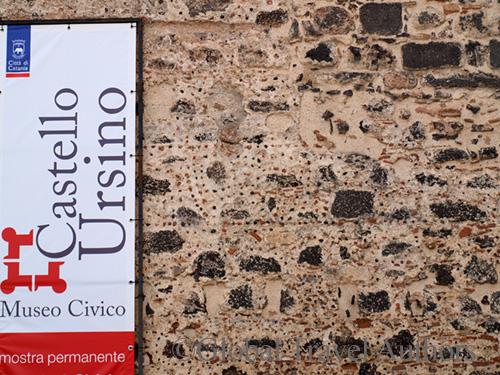 Menorah on Castello Ursino Wall