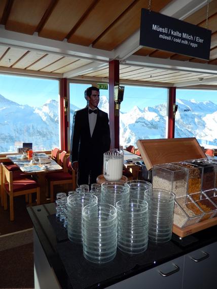 James Bond photo inside restaurant