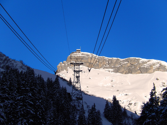 View on Birg from cable car