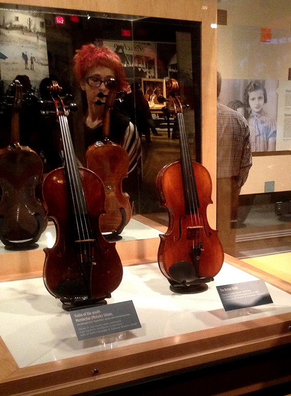 19 violins from World War II period are on display at Maltz Museum