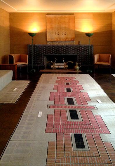 Living room of Saarinen House
