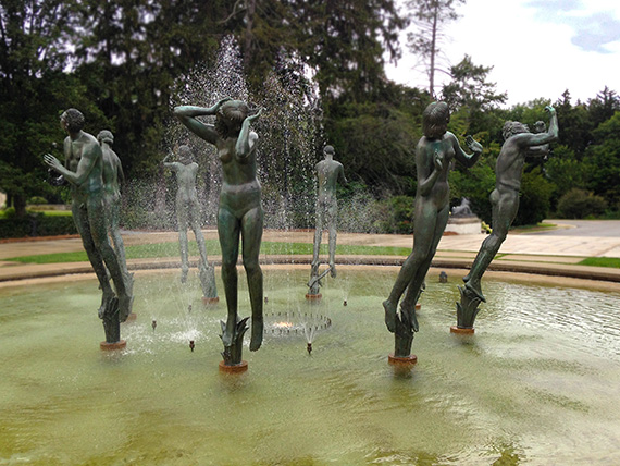 Orpheus Fountain buiilt by sculptor Carl Milles