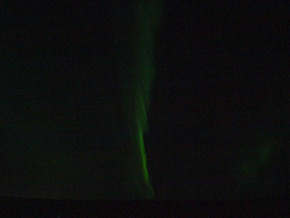 vertical pattern of northern lights in Iceland