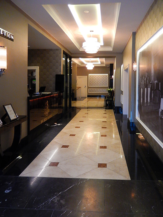 inside hotel Borg
