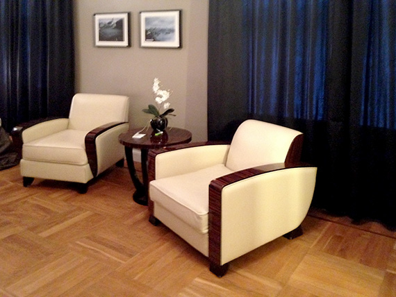 chairs in hotel rooms are original art deco pieces