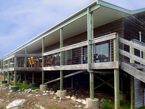 Terrace in the back of Sea Dragon Lodge