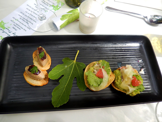 Home-made appetizers served inside the Fig Tree