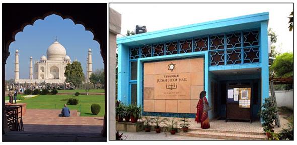 taj mahal and synagogue in Delhi