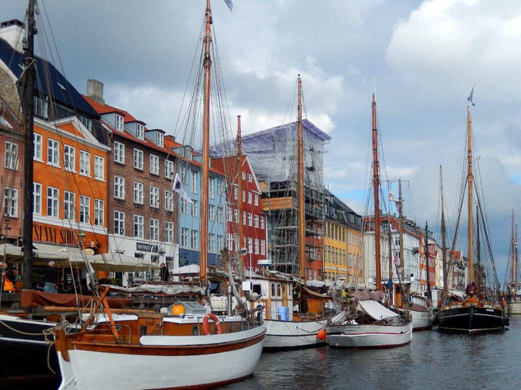 ships mored at Nyhavn