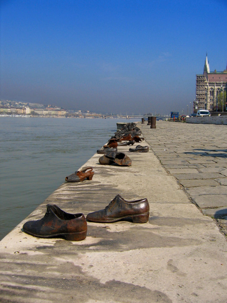 Shoes on the Danube Bank memorial in Budapest