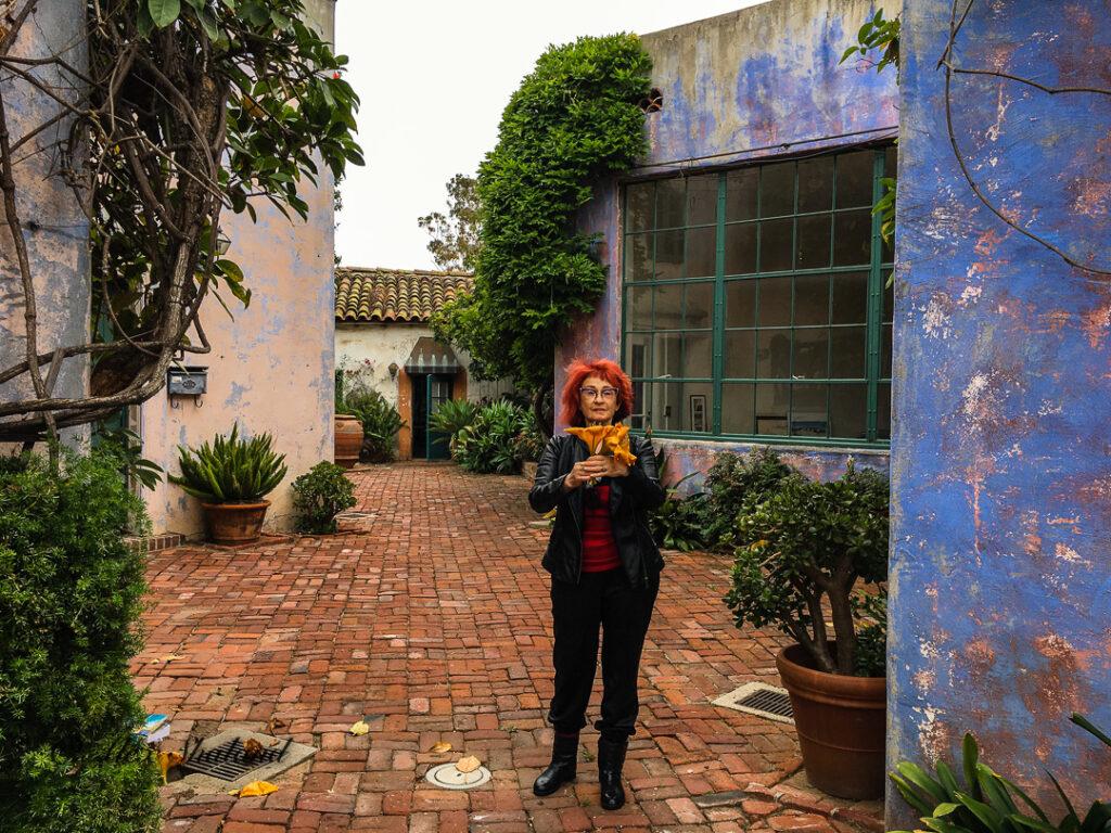 Irene Shaland in Spanish Courtyard