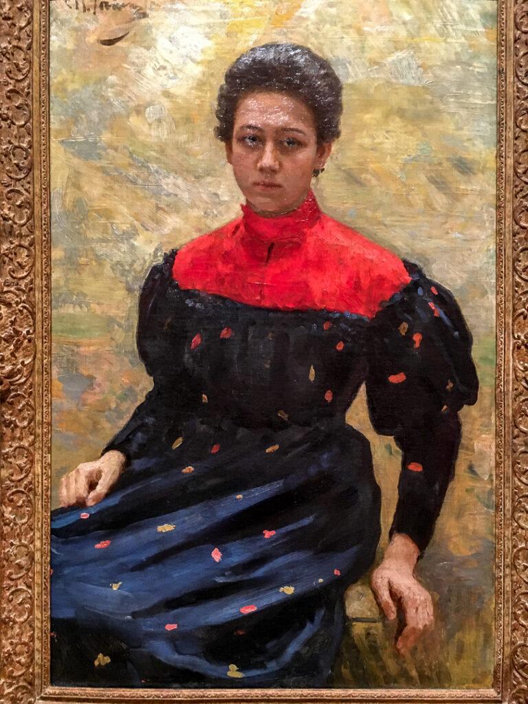 """Portrait of Nadya"" by Ilja Repin."