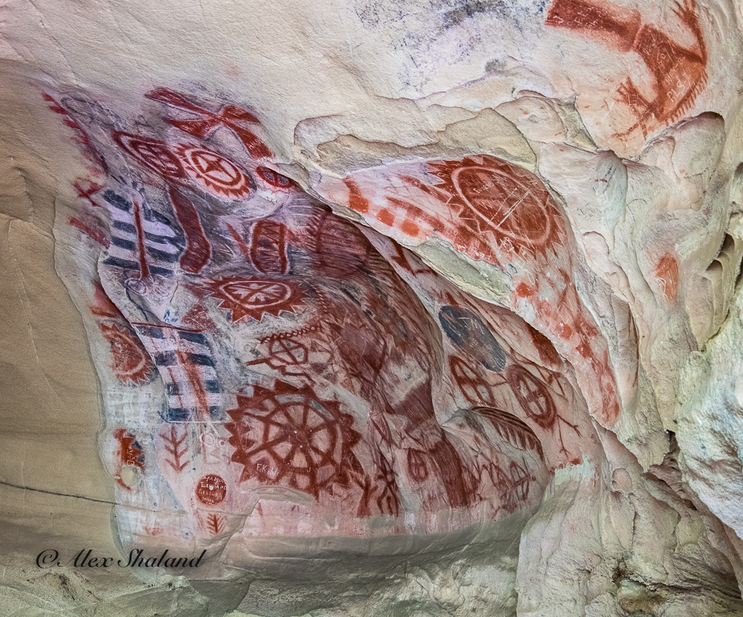 Painting inside Chumash Cave