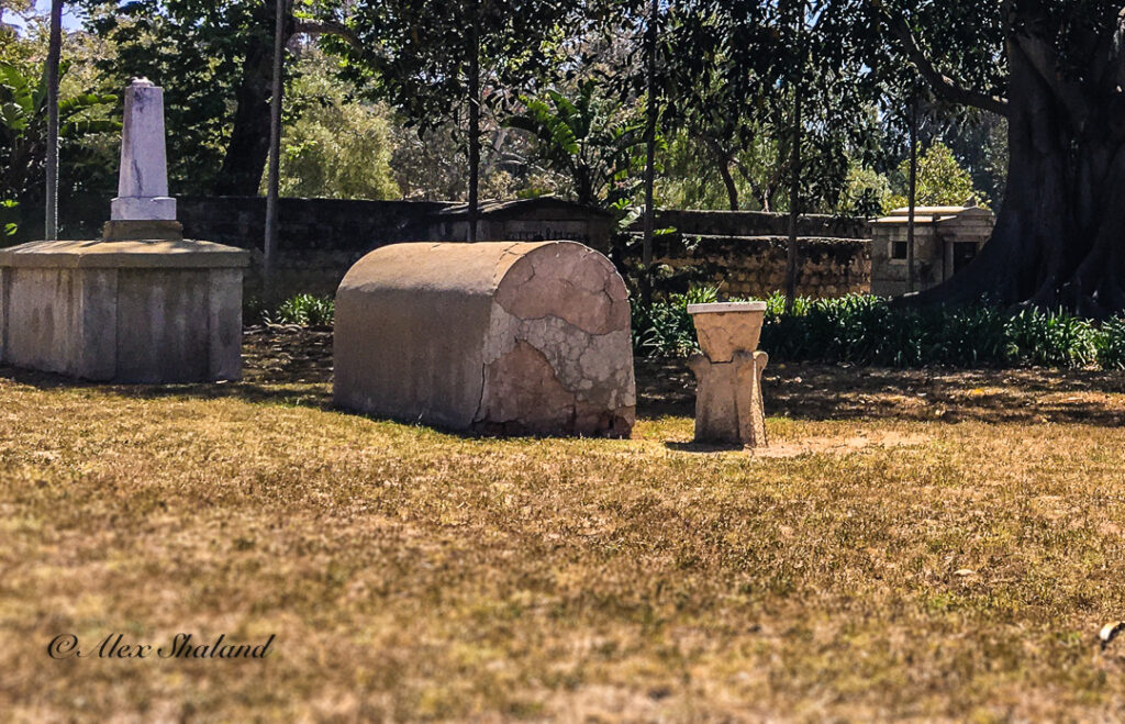 The Old Spanish Mission cemetery.